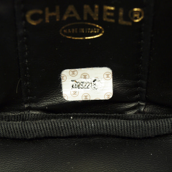 Chanel Cosmetic Caviar Leather Handbag (Authentic Pre Owned)