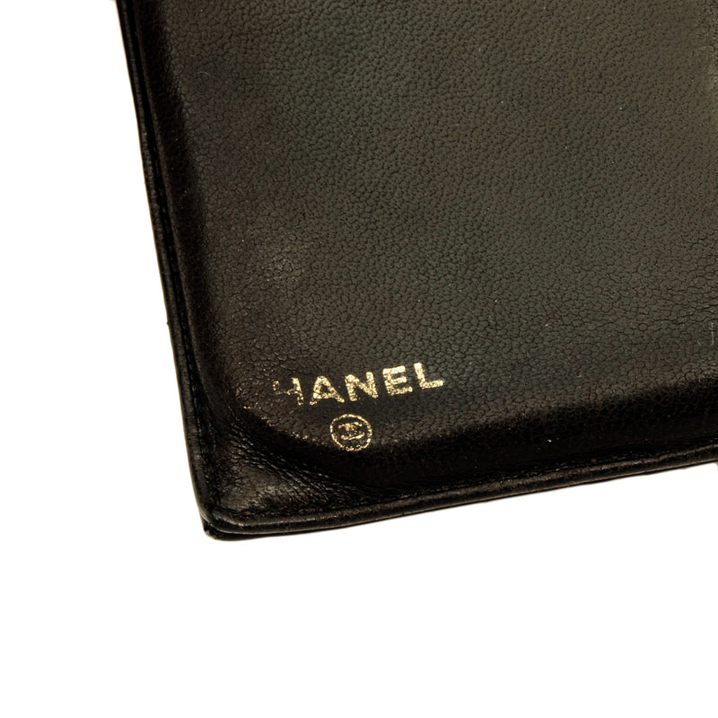 Chanel Patent Black CC Wallet With Coin Purse (Authentic Pre Owned)
