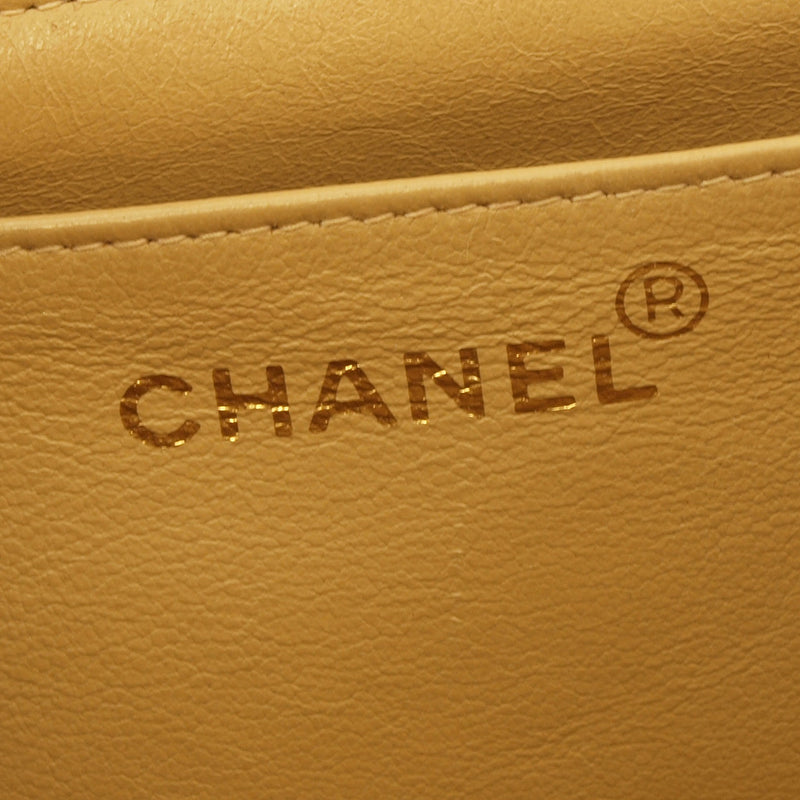 Chanel Beige 2.55 Jumbo Leather Handbag (Authentic Pre Owned)
