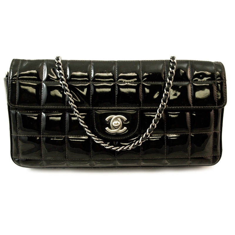 Chanel Quilted Patent Classic Bag Leather Handbag (Authentic Pre Owned)