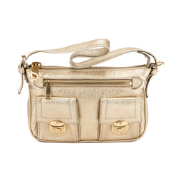 Marc Jacobs Gold Cammie Leather Handbag (100785)