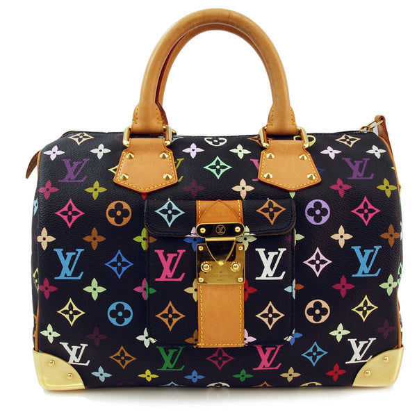 Louis Vuitton Speedy 30 Multicolor Leather Handbag (Authentic Pre Owned)