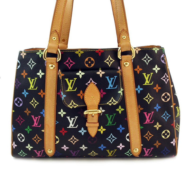 Louis Vuitton Multicorored Black Tote Handbag (Authentic Pre Owned)