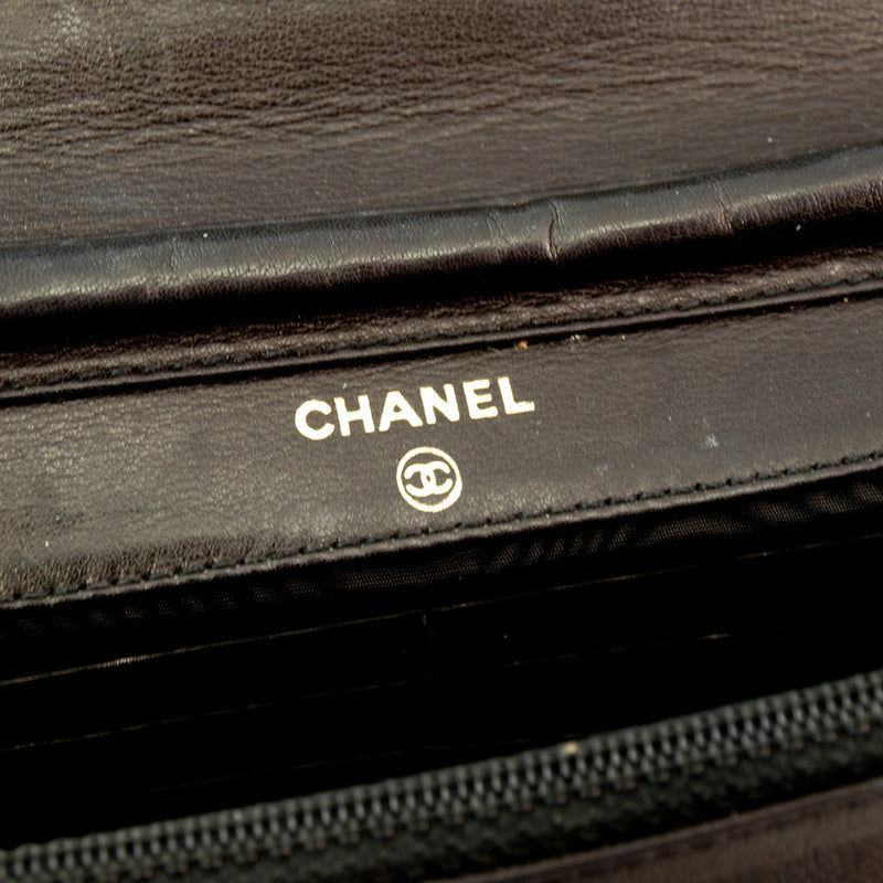 Chanel Patent Woc Leather Handbag (Authentic Pre Owned)