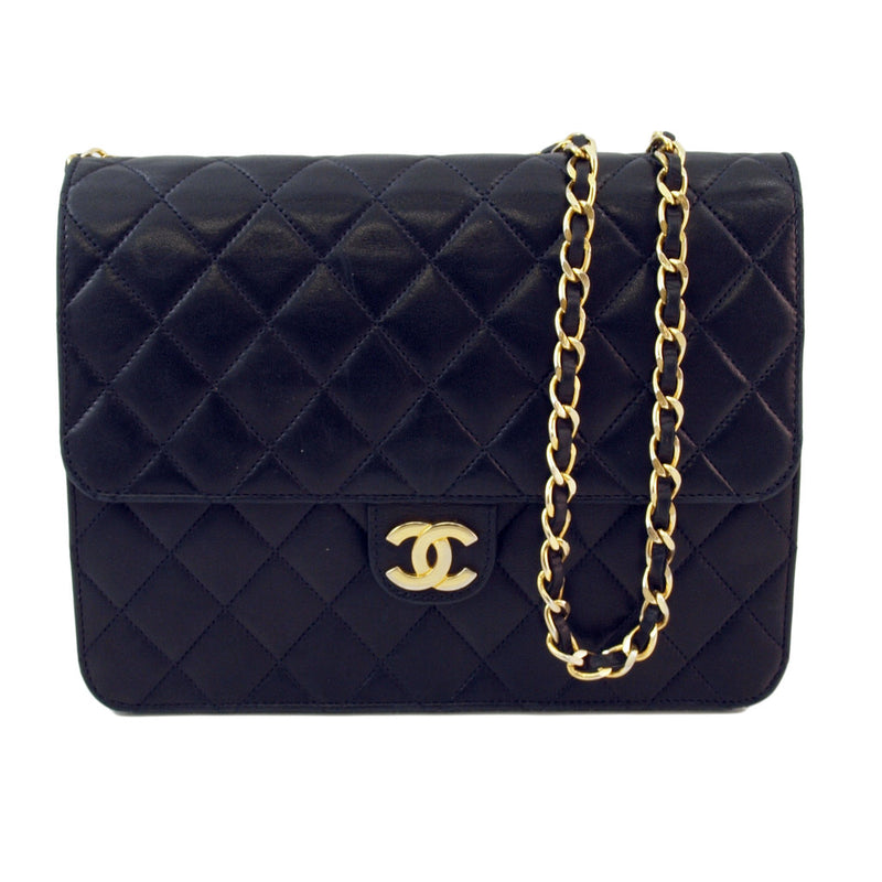 Chanel Single Chain Leather Handbag (Authentic Pre Owned)