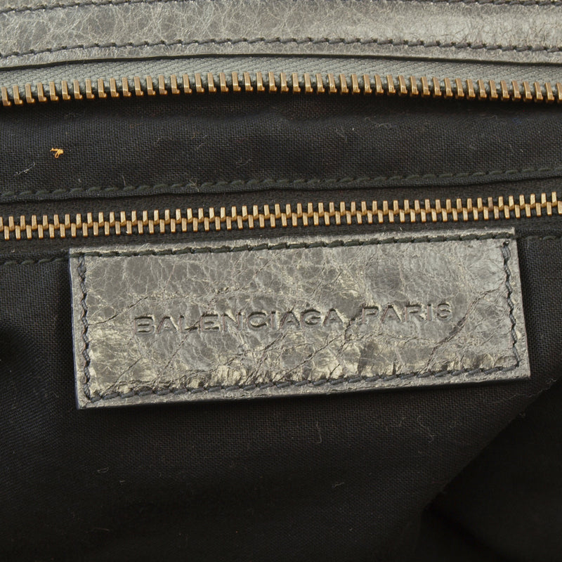 Balenciaga Step Leather Handbag (Authentic Pre Owned)