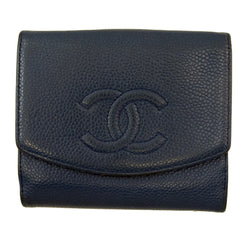 Chanel Blue Caviar Wallet (Authentic Pre Owned)