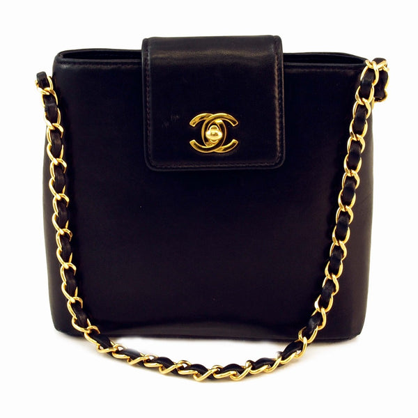 Chanel Lambskin Chain Handbag (Authentic Pre Owned)