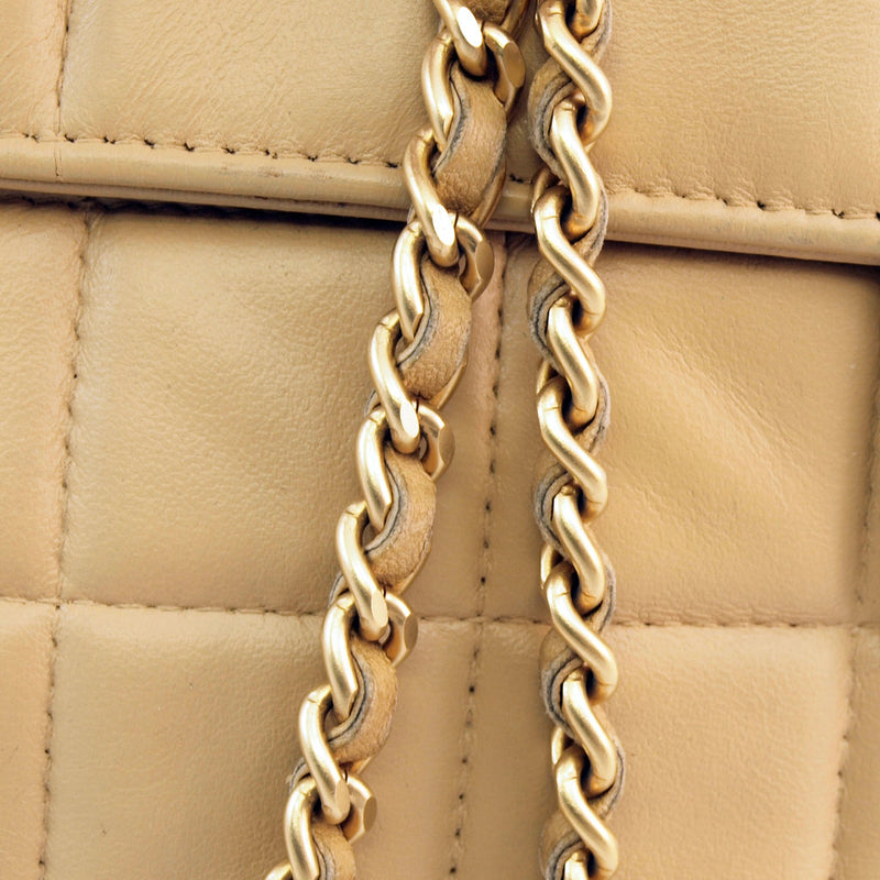 Chanel Tan Shoulder Leather Handbag (Authentic Pre Owned)