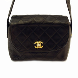 Chanel Lambskin Shoulder Handbag (Authentic Pre Owned)
