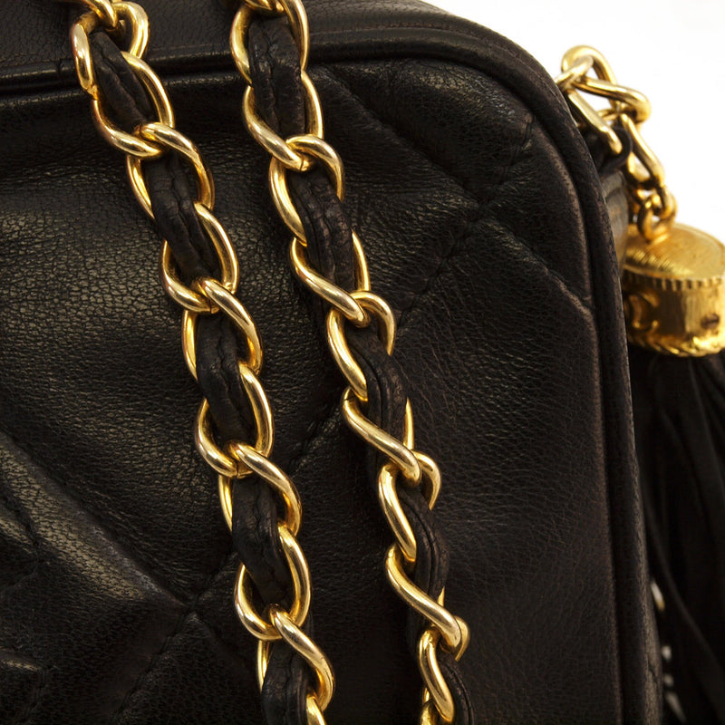 Chanel Lambskin Tassle Leather Handbag (Authentic Pre Owned)