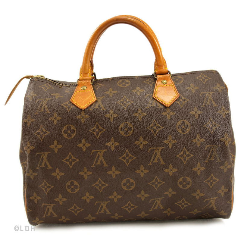 Louis Vuitton Speedy 30 With Lock leather (Authentic Pre Owned)