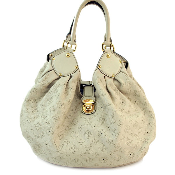 4b84250f0a40 Louis Vuitton Mahina XL Ivory Leather Handbag (Authentic Pre Owned ...