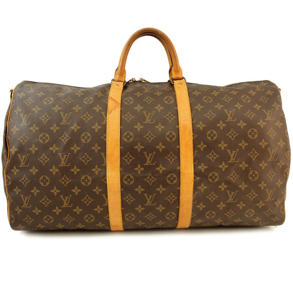 Louis Vuitton Monogram Keepall 55 Handbag (Authentic Pre Owned)