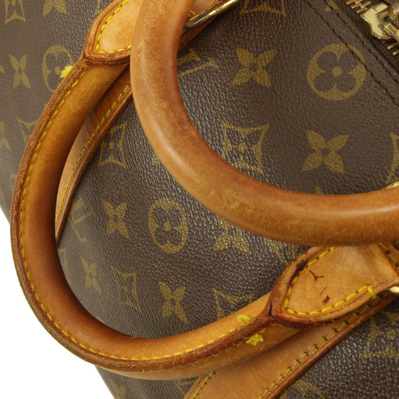 Louis Vuitton Keepall 55 Leather Handbag (Authentic Pre Owned)