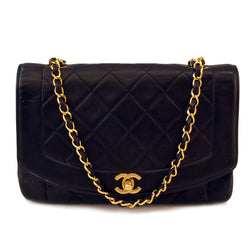 Chanel Black Single Chain 2.55 flap Leather Handbag (Authentic Pre Owned)