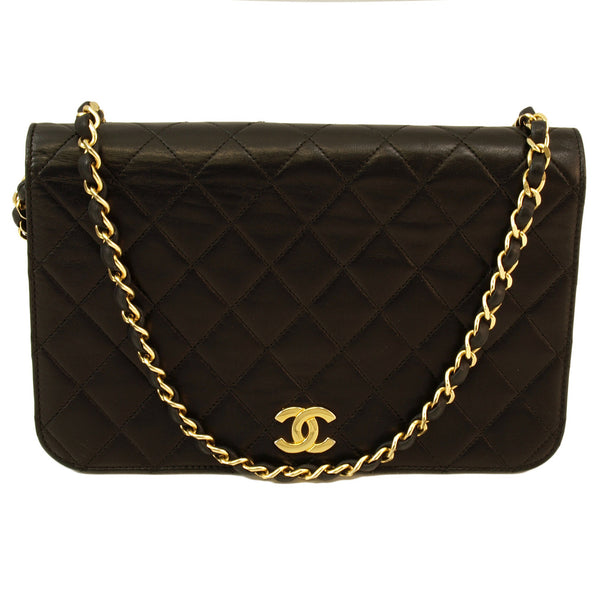 Chanel Lambskin Vintage Flap Leather Handbag (Authentic Pre Owned)