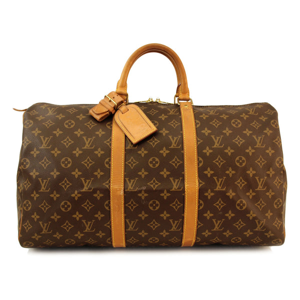 Louis Vuitton Keepall 50 Handbag (Authentic Pre Owned)