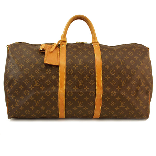 Gently Used Louis Vuitton Monogram Keepall 55 Handbag (Authentic Pre Owned)