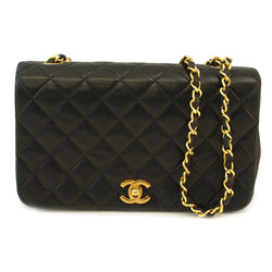 Chanel Black Single Chain Leather Handbag (Authentic Pre Owned)