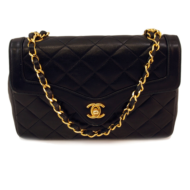 Chanel Black Flap leather Handbag (Authentic Pre Owned)