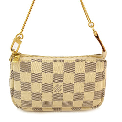Louis Vuitton Azur Accessories Pouch Handbag (Authentic Pre Owned)