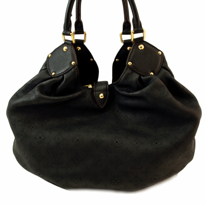 Louis Vuitton Mahina XL Black Leather Handbag (Authentic Pre Owned)