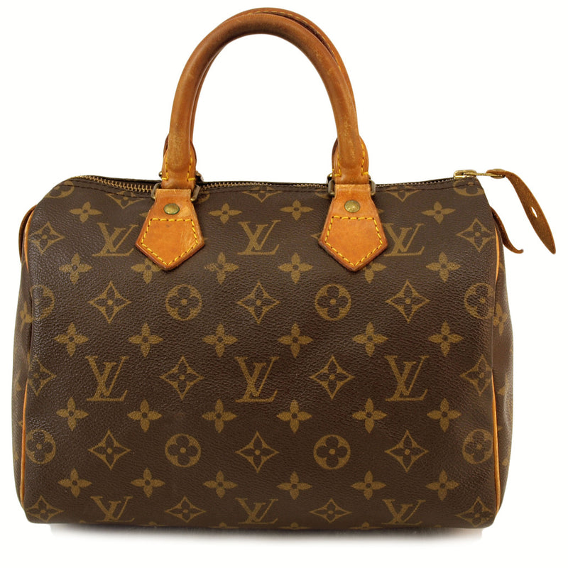 Louis Vuitton Speedy 25 Leather Handbag (Authentic Pre Owned)