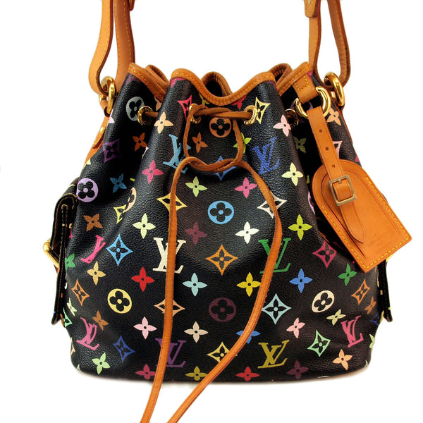 Louis Vuitton Multicolore Petit Noe Black Handbag (Authentic Pre Owned)