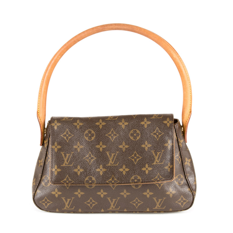 Louis Vuitton Monogram Mini Looping Handbag (Authentic Pre Owned)