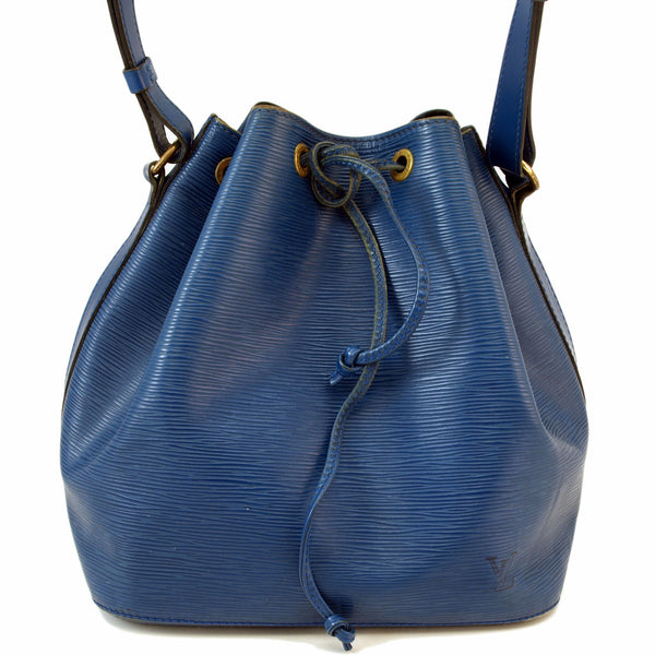 Louis Vuitton Blue Epi Noe Petit (Authentic Pre Owned)