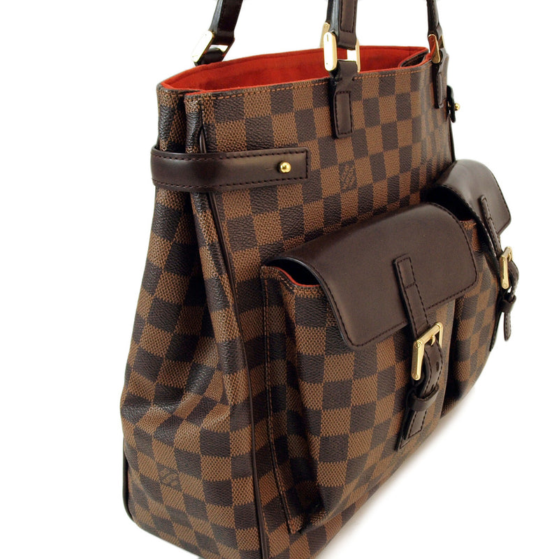 Louis Vuitton Damier Canvas Uzes Large Tote Handbag (Authentic Pre Owned)