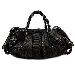 Gucci Galaxy Python Leather Handbag (Authentic Pre Owned)