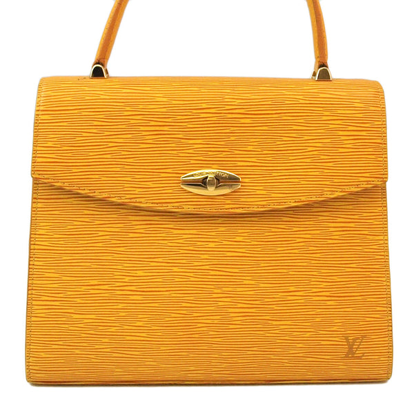 Louis Vuitton Yellow Epi Malesherbes Leather Handbag (Authentic Pre Owned)