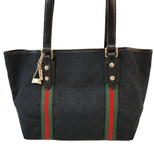 Gucci Black Shopper Tote Handbag (Authentic Pre Owned)