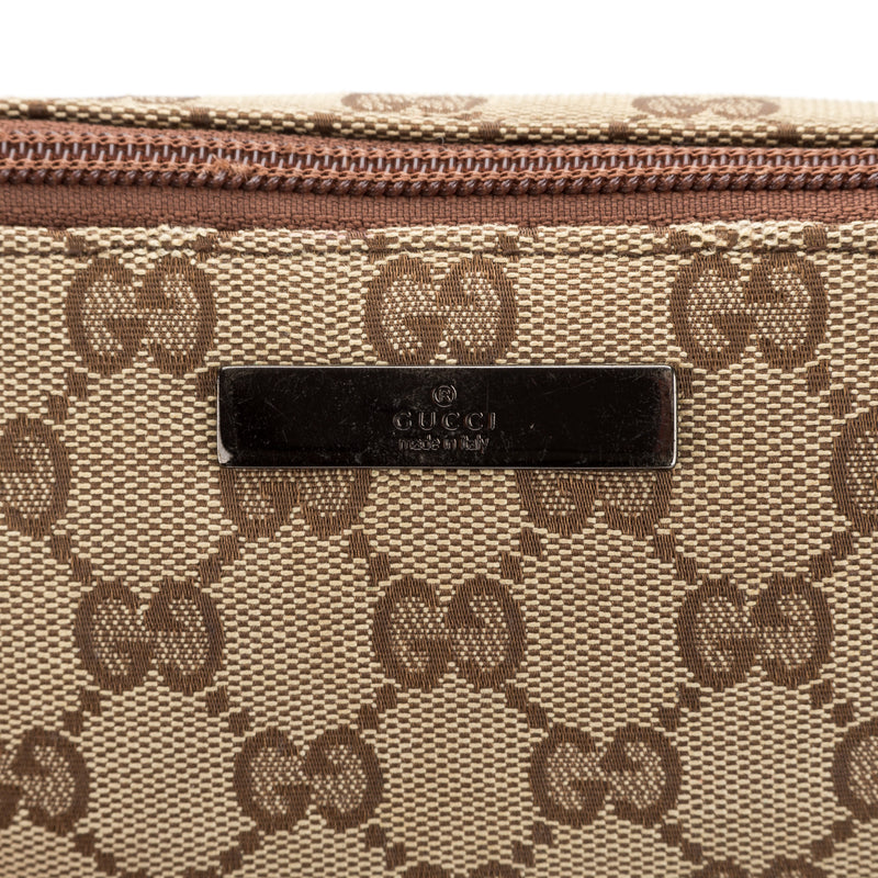 Gucci Brown Monogram Pochette (Authentic Pre Owned)