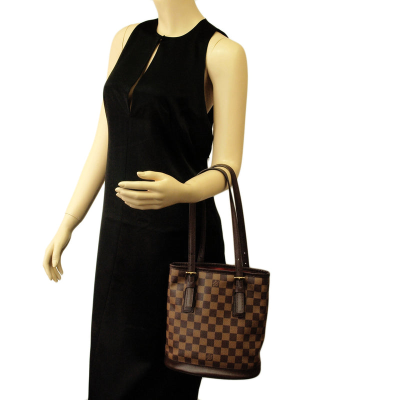 Louis Vuitton Damier Small Bucket Handbag (Authentic Pre Owned)