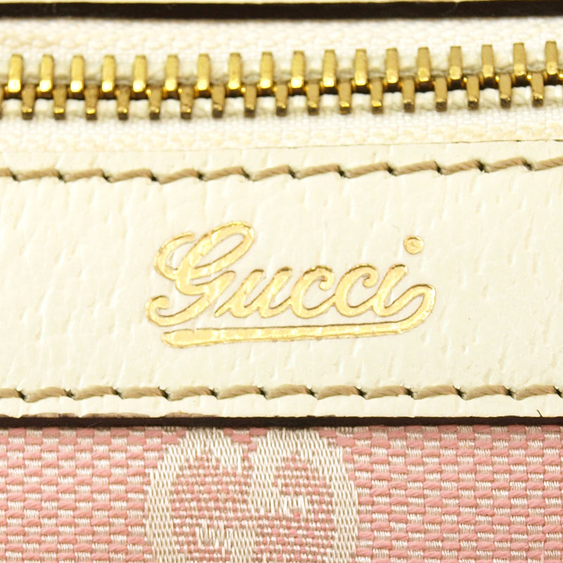 Gucci Pink Monogram Bowling Handbag (Authentic Pre Owned)
