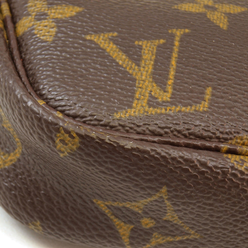 Louis Vuitton Monogram Chain Pochette Handbag (Authentic Pre Owned)