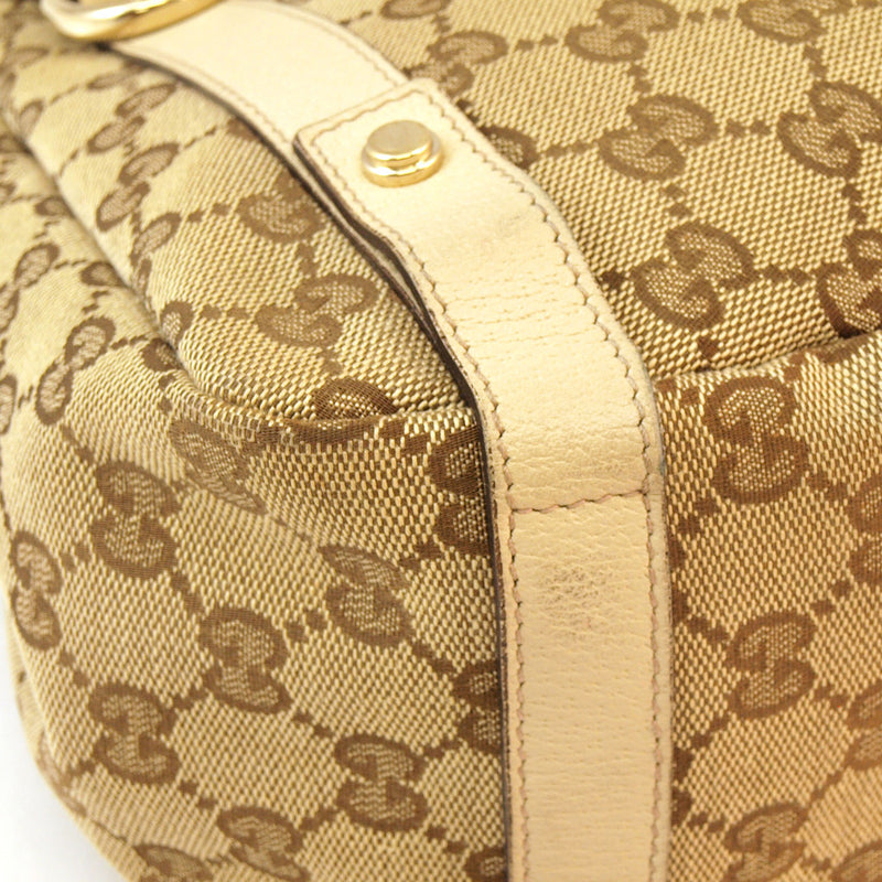 Gucci Pelham Beige Hobo Leather Handbag (Authentic Pre Owned)