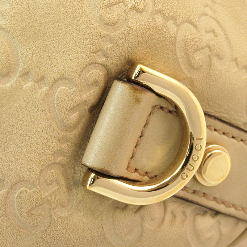 Gucci Cream Guccissima Hobo Leather Handbag (Authentic Pre Owned)