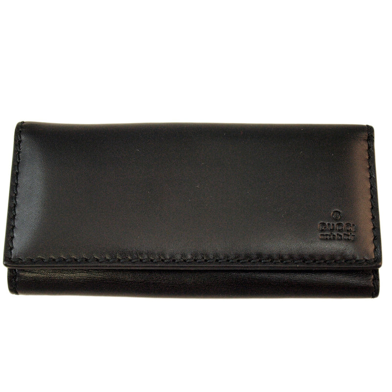 Gucci Leather Black Wallet Handbag (Authentic Pre Owned)