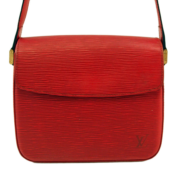 Louis Vuitton Red Epi Buci Leather Handbag (Authentic Pre Owned)