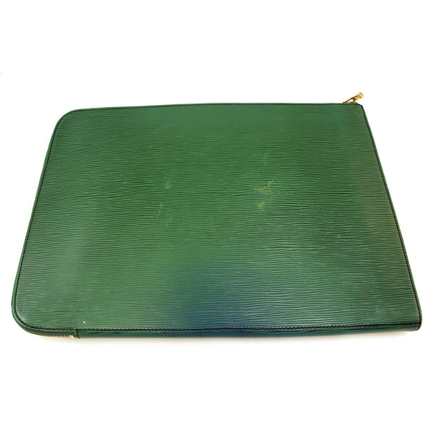 Louis Vuitton Epi Document Holder Green (Authentic Pre Owned)