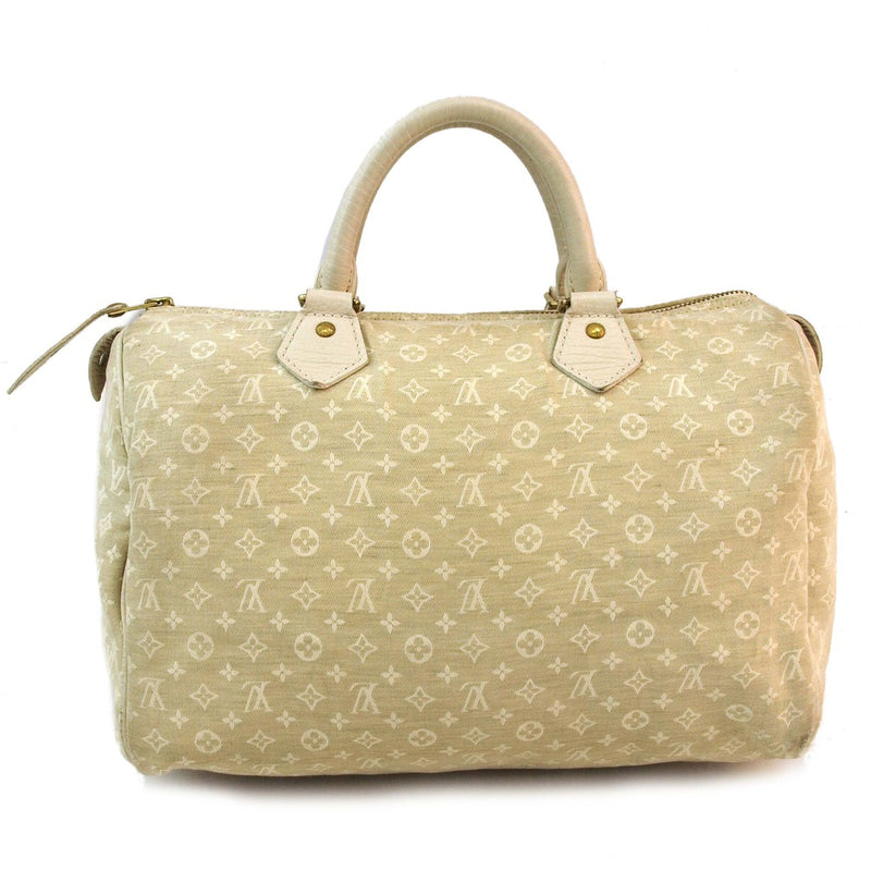 Louis Vuitton Mini Lin Speedy 30 Handbag (Authentic Pre Owned)