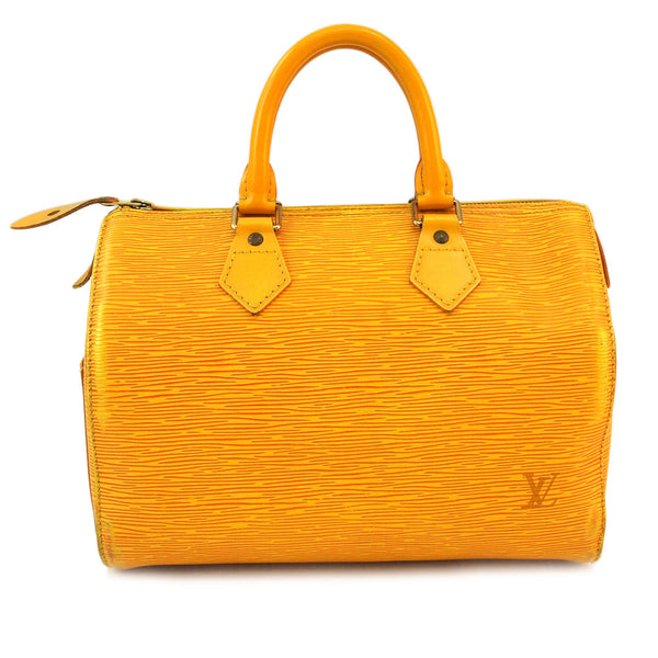 Louis Vuitton Yellow Epi Speedy 25 Leather Handbag (Authentic Pre Owned)