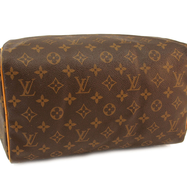Louis Vuitton Monogram Speedy 30 Leather Handbag (Authentic Pre Owned)