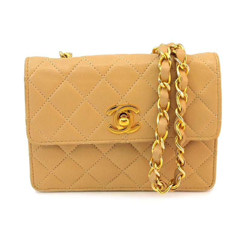 Chanel Mini Flap Leather Handbag (Authentic Pre Owned)