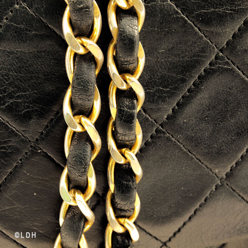 Chanel Black Lambskin Double Chain 2.55 (Authentic Pre Owned)