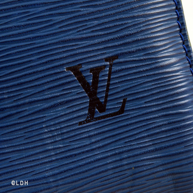 Louis Vuitton Blue Epi Speedy 25 Leather (Authentic Pre Owned)